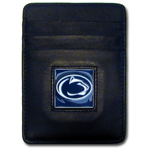 Penn St. Nittany Lions Leather Money/Clip Carholder